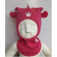 Шапки -шлем с помпонами, Kivat  для девочек