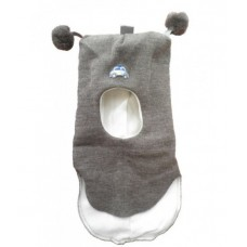 Шапки -шлем забавная серая Kivat с подкладкой из хлопка