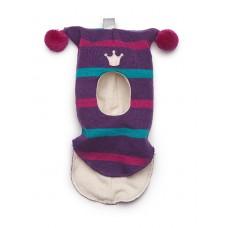 Шапки-шлем  фиолетовый в полоску Kivat для девочек