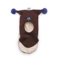 Шапки -шлем  для детей во время прогулок Kivat коричневая