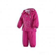 Комплект Perho, цвет темно-розовый для девочек Reima